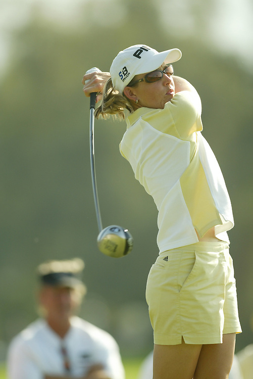 Stephanie Louden..2004 Kraft Nabisco Championship.MIssion Hills CC.Rancho Mirage, CA .First Round.Thursday, March 25 2004..photograph by Darren Carroll