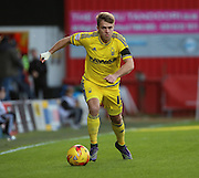 Nottingham Forest striker Jamie Ward  running down the line with a forest attack during the Sky Bet Championship match between Brentford and Nottingham Forest at Griffin Park, London, England on 21 November 2015. Photo by Matthew Redman.