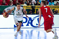Jaka Lakovic of Slovenia vs Tomasz Snieg of Poland at exhibition game between Slovenia and Poland for Primus Trophy 2011Lithuania as part of exhibition games before European Championship L2011on July 23, 2011, in Ljudski Vrt, Ptuj, Slovenia. (Photo by Matic Klansek Velej / Sportida)