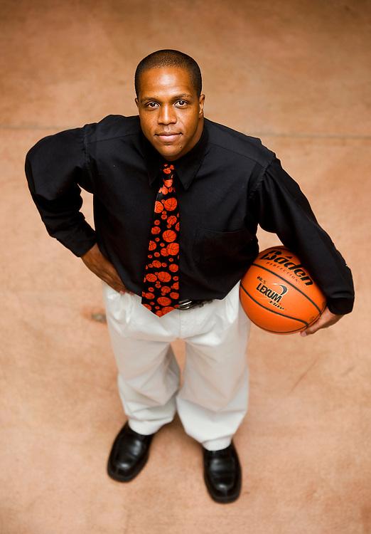 060109  Brian Leddy.Kamau Turner is Gallup's new basketball coach. Turner replaces longtime coach John Lomasney.