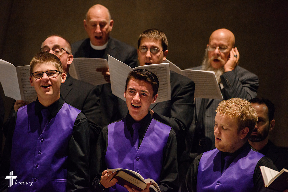 Choir members sing during the 500th Anniversary of the Reformation service on Tuesday, Oct. 31, 2017, at Concordia Theological Seminary, Fort Wayne, Ind. LCMS Communications/Erik M. Lunsford