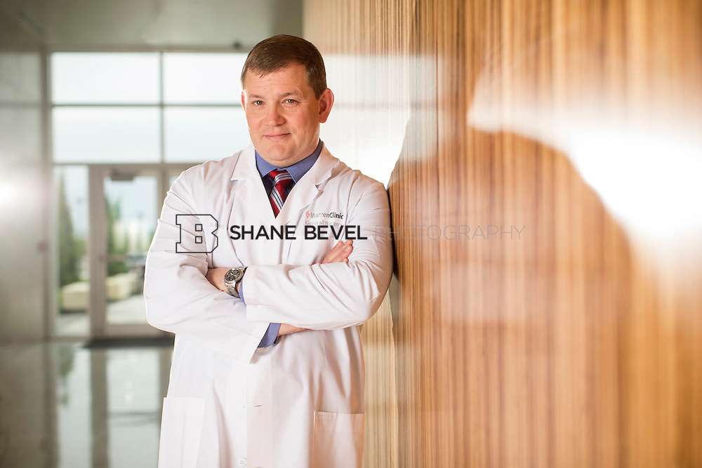 5/13/15 3:45:31 PM -- Dr. John King poses for a portrait in the lobby of the TEC at Saint Francis Hospital<br /> <br /> Photo by Shane Bevel