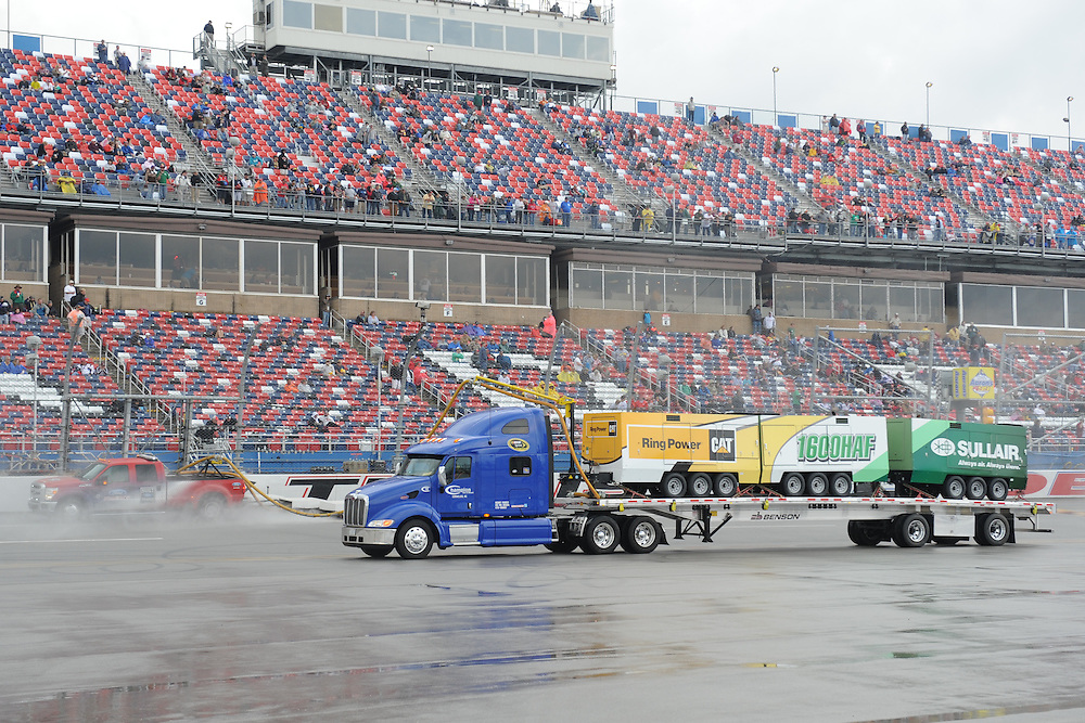 May 5, 2013; Talladega, AL, USA; Air Titans dry the track during a rain delay at the NASCAR Sprint Cup Series Aaron's 499 at Talladega Superspeedway. Mandatory Credit: Randy Sartin-USA TODAY Sports