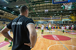 Zoran Dragic  of Slovenia during friendly basketball match between National teams of Slovenia and Ukraine at day 1 of Adecco Cup 2015, on August 21 in Koper, Slovenia. Photo by Grega Valancic / Sportida