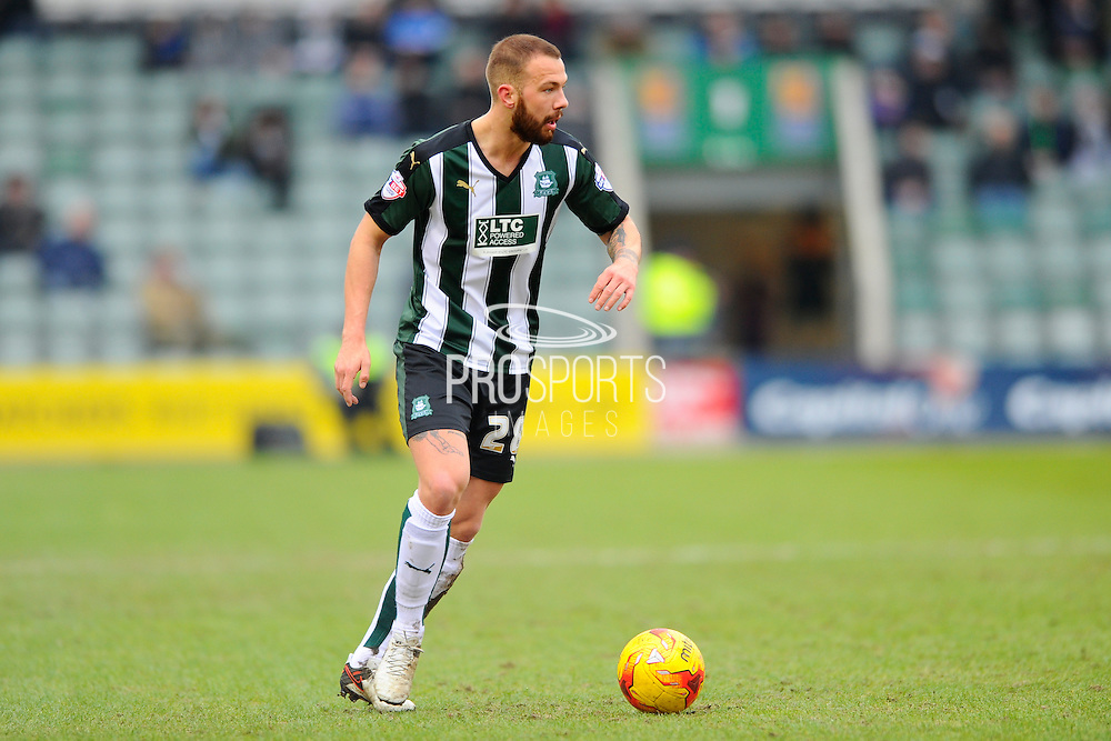 Plymouth Argyle's Jordon Forster during the Sky Bet League 2 match between Plymouth Argyle and Notts County at Home Park, Plymouth, England on 27 February 2016. Photo by Graham Hunt.