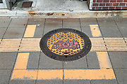 fire department water access point manhole cover Japan