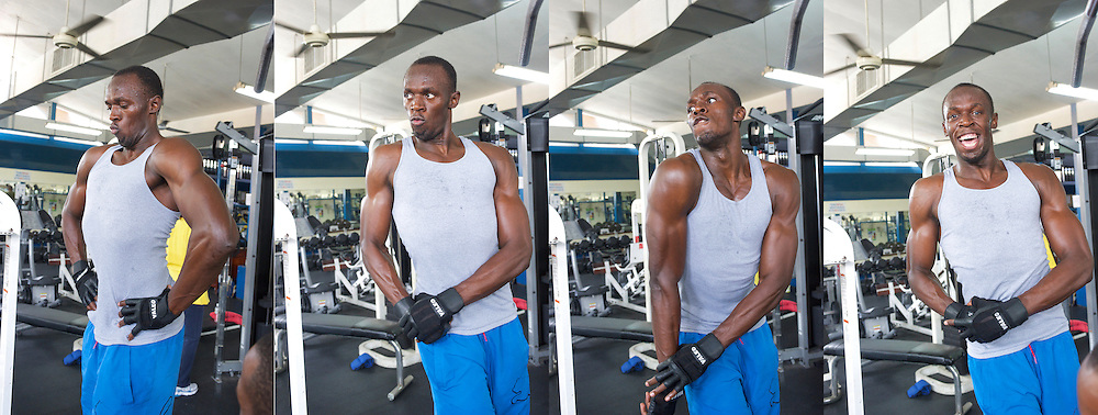 Usain Bolt at the gym in Kingston Jamaica March'11