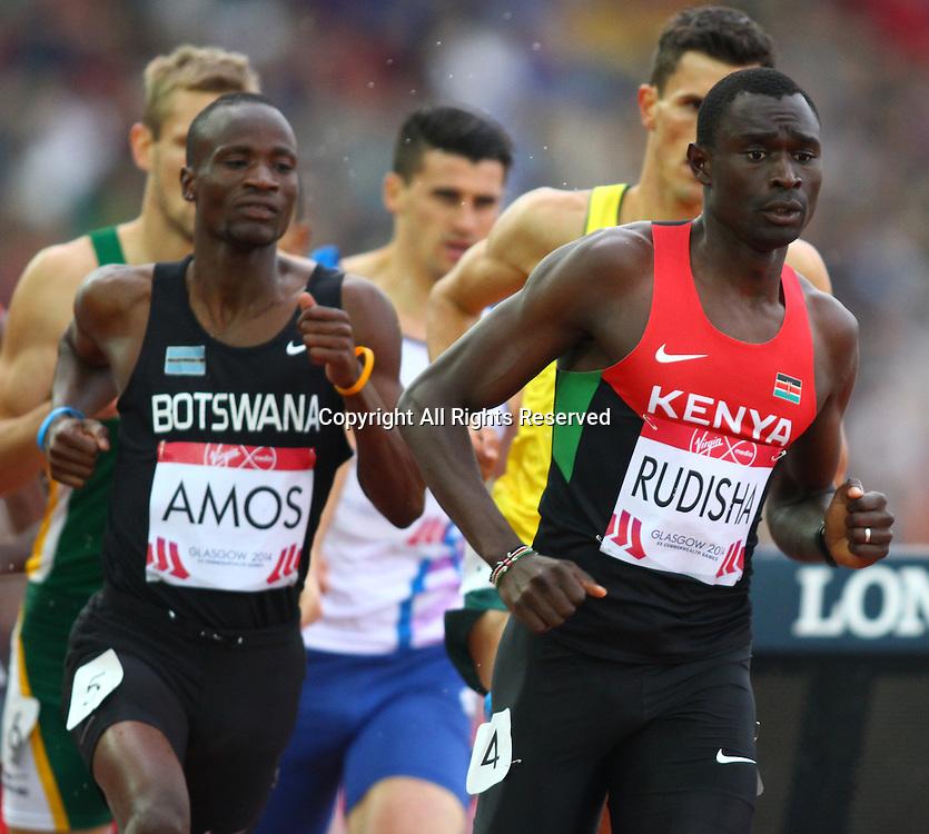 31.07.2014. Glasgow, Scotland. Glasgow Commonwealth Games. Men's 800m final from Hampden Park. David Rushida of Kenya took an early lead