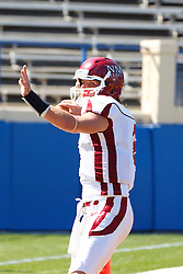 September 24, 2011; San Jose, CA, USA;  New Mexico State Aggies quarterback Matt Christian (2) warms up before the game against the San Jose State Spartans at Spartan Stadium. San Jose State defeated New Mexico State 34-24.