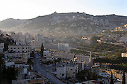 Sunrise over the old city of Nablus, West Bank, Palestine after the usual night of bombings and gun fights.