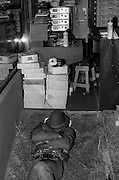 Armed studio security at Aswad recording session - Kingston Jamaica 1980