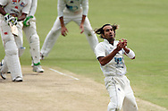 CENTURION, SOUTH AFRICA - 8 November 2008, Imaran Tahir narrowly misses a catch during his own bowling during the Supersport Series match between The Titans and Highveld Lions held at Supersport Park, Centurion, South Africa..Photo by Barry Aldworth/SPORTZPICS