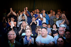 Traveling Bristol Rovers fans applaud their team off the pitch - Mandatory by-line: Richard Calver/JMP - 05/05/2018 - FOOTBALL - Roots Hall - Southend-on-Sea, England - Southend United v Bristol Rovers - Sky Bet League One
