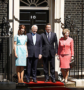 Her Majesty Queen Elizabeth II and His Royal Highness Prince Phillip The Duke of Edinburgh visit No 10 Downing Street for lunch with the British Prime Minister Rt Hon David Cameron MP, his wife Samantha Cameron and Tony Blair, John and Norma Major and Gordon and Sarah Brown.<br />