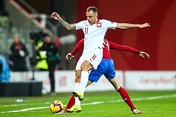 November 15, 2018 - Gdansk, Poland - Kamil Grosicki of Poland in action during International Friendly match between Poland and Czech Republic on November 15, 2018 in Gdansk, Poland. (Credit Image: © Foto Olimpik/NurPhoto via ZUMA Press)