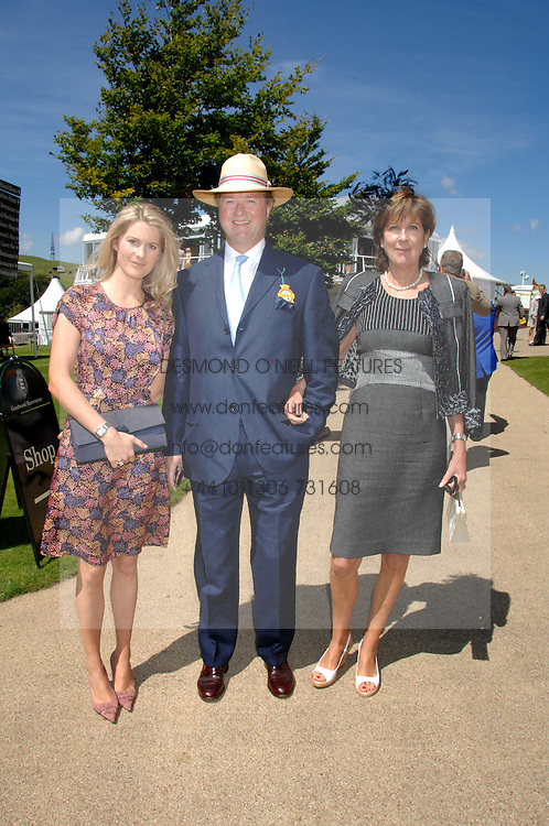 Left to right, LADY KINVARA BALFOUR and her parents the EARL & COUNTESS OF BALFOUR at the 4th day of the Glorious Goodwood racing festival 2007 held at Goodwood Racecourse, West Sussex on 3rd August 2007.<br /><br />NON EXCLUSIVE - WORLD RIGHTS