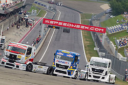07.07.2013, Red Bull Ring, Spielberg, AUT, Truck Race Trophy, Renntag 2, im Bild Anthony Janiec, (FRA, Anthony Janiec, #9), Rene Steinert, (GER, Rene Reichert, #77), Frank Vojtisek, (CZE, Frankie Truck Racing Team, #21) // during the Truck Race Trophy 2013 at the Red Bull Ring in Spielberg, Austria, 2013/07/07, EXPA Pictures © 2013, PhotoCredit: EXPA/ M.Kuhnke