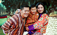 01.01.2018; Thimpu, Bhutan: PRINCE JIGME WITH PARENTS KING WANGCHUCK AND QUEEN JETSUN PEMA OF BHUTAN<br />
