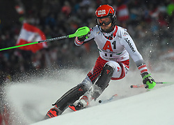 """29.01.2019, Planai, Schladming, AUT, FIS Weltcup Ski Alpin, Slalom, Herren, 1. Lauf, im Bild Christian Hirschbuehl (AUT) // Christian Hirschbuehl of Austria in action during his 1st run of men's Slalom """"the Nightrace"""" of FIS ski alpine world cup at the Planai in Schladming, Austria on 2019/01/29. EXPA Pictures © 2019, PhotoCredit: EXPA/ Erich Spiess"""