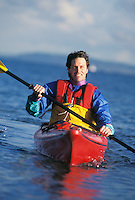 Man kayaking off Seattle Washington USA&#xA;&#xA;&#xA;<br />