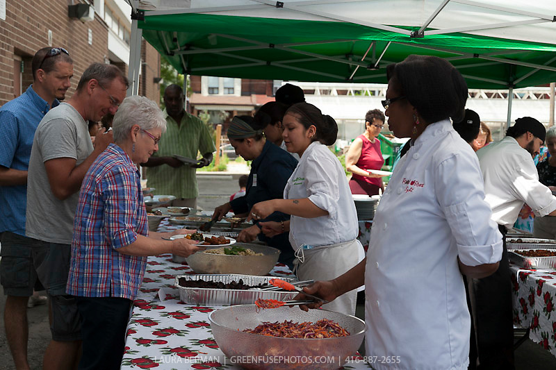 Lunch at FoodShare's 2012 AGM an dOpen House, prepared by FoodShare's own kitchen team.
