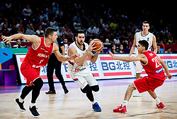 Csaba Ferencz of Hungary vs Vasilje Micic of Serbia during basketball match between National Teams of Serbia and Hungary at Day 11 in Round of 16 of the FIBA EuroBasket 2017 at Sinan Erdem Dome in Istanbul, Turkey on September 10, 2017. Photo by Vid Ponikvar / Sportida