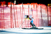 Regina Mader of Austria reacts after crashing during the first run of the women's slalom race on the Lower Ruthies Run during the 2009 Aspen Winternational Audi FIS Women's Alpine World Cup in Aspen, Colo., on Nov. 29, 2009.