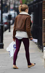 A make-up free Kimberley Garner out running errands in London, UK. 23/03/2016<br />