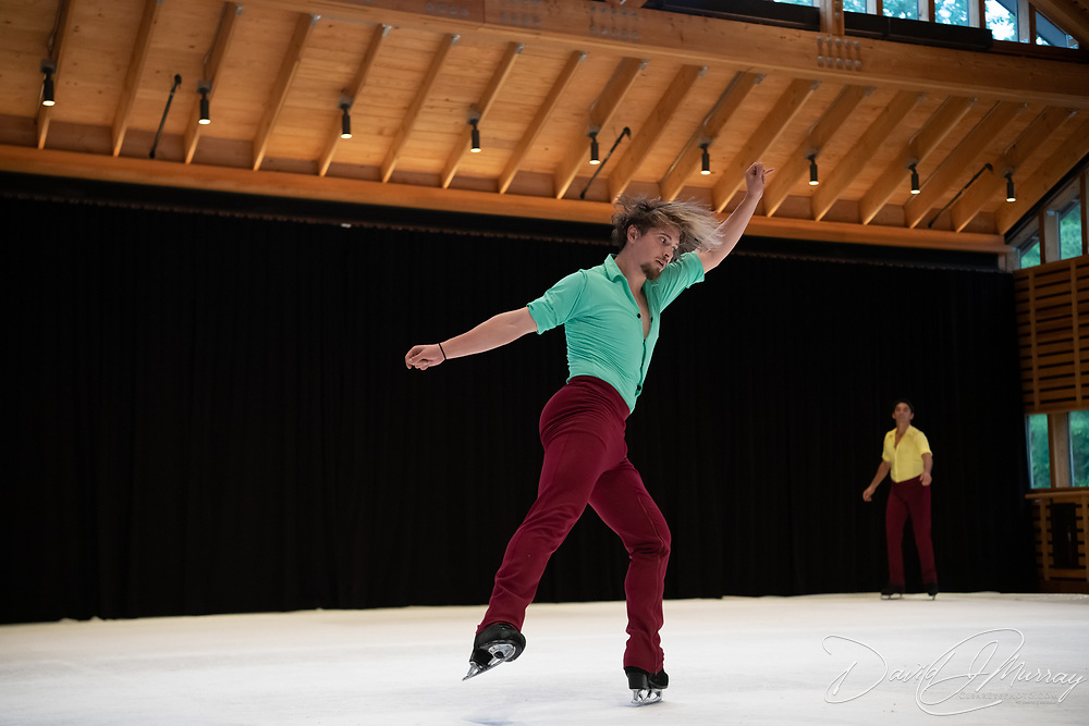 Ice Dance International performs in the Perles Family Studio at Jacobs Pillow, July 2019