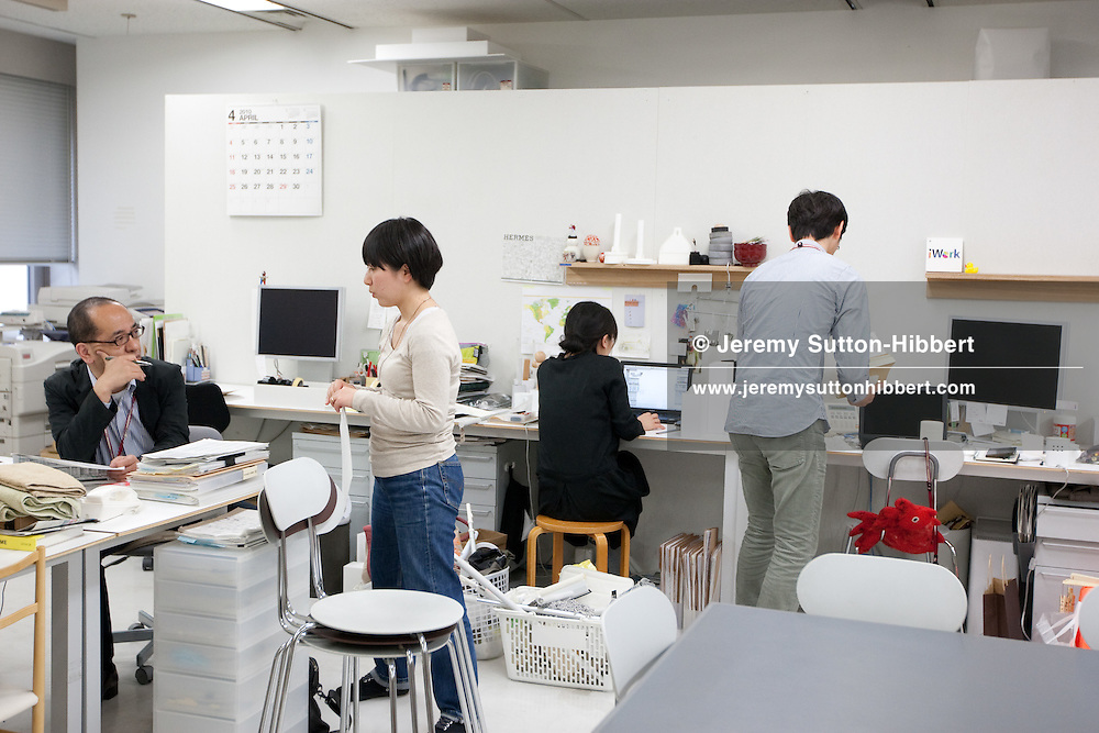 The design department for household goods, in Muji headquarters, Tokyo, Japan. Monday 26th April 2010.