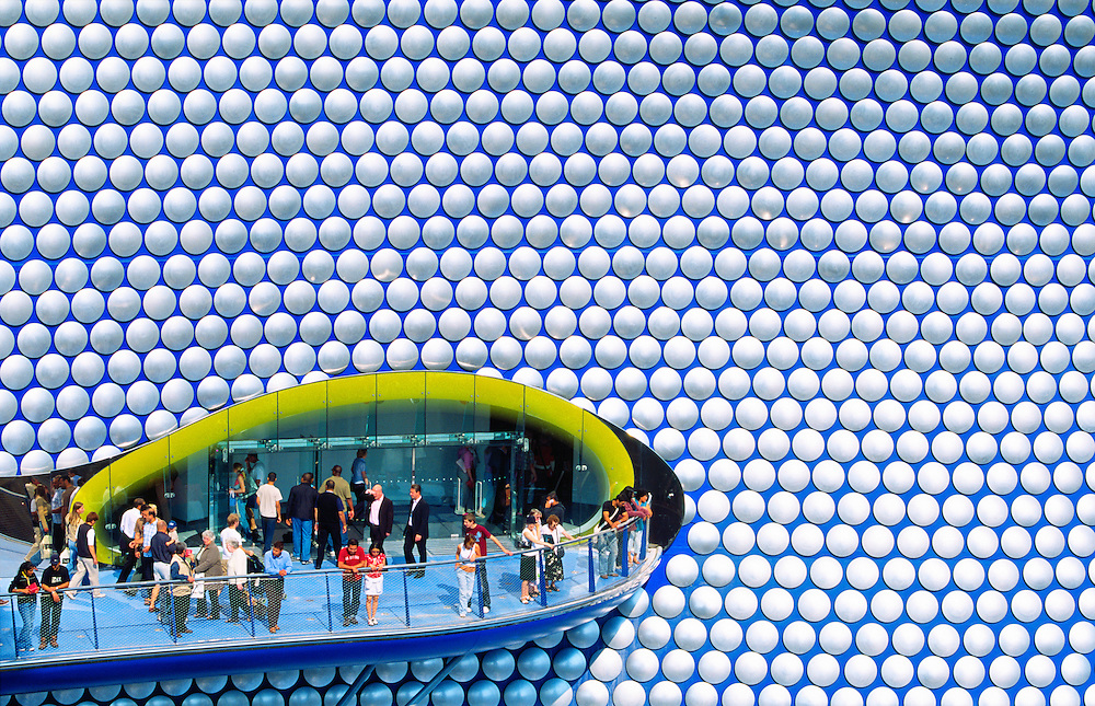 Selfridges new flagship store, designed by Future Systems, in The Bullring shopping mall, Birmingham, England.