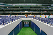 General stadium view, tunnel view, inside Tottenham Hotspur Stadium before the Pre-Season Friendly match between Tottenham Hotspur and Inter Milan at Tottenham Hotspur Stadium, London, United Kingdom on 4 August 2019.