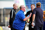 Mansfield Town manager Steve Evans shouting at the ref during the EFL Sky Bet League 2 match between Mansfield Town and Luton Town at the One Call Stadium, Mansfield, England on 26 August 2017. Photo by Nigel Cole.