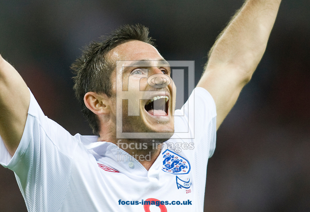 London - Wednesday, September 9th, 2009: Frank Lampard of England celebrates scoring the third goal against Croatia during the FIFA World Cup Qualifier match at Wembley, London. (Pic by Chris Ratcliffe/Focus Images)