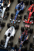 April 10-12, 2015: Chinese Grand Prix - F1 cars in Marc Ferme at the Chinese Grand Prix