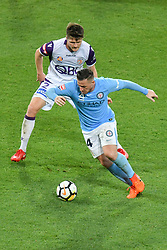November 24, 2017 - Melbourne, Victoria, Australia - ROSS MCCORMACK (44) of Melbourne City controls the ball in the round eight match of the A-League between Melbourne City and Perth Glory at AAMI Park, Melbourne, Australia. Perth won 3-1 (Credit Image: © Sydney Low via ZUMA Wire)