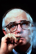 A 28.6 FILE FROM FILM OF:..Paul Volcker when he was the Chairman of the Board of Governors of the Federal reserve. photo by Dennis Brack