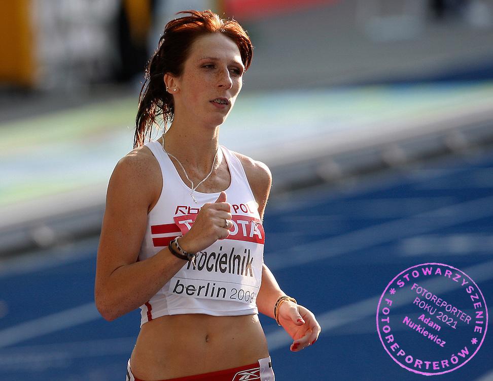 BERLIN 18/08/2009.12th IAAF World Championships in Athletics Berlin 2009.100 Metres Hurdles Women .Joanna Kocielnik of Poland ..Phot: Piotr Hawalej / WROFOTO