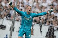 Karl-Johan Johnsson (FC København) jubler over en frelsende tackling under kampen i 3F Superligaen mellem FC København og FC Midtjylland den 22. september 2019 i Telia Parken (Foto: Claus Birch / Ritzau Scanpix).