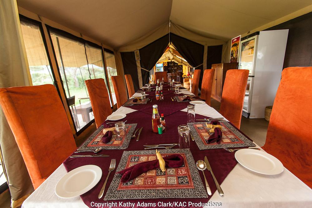 Lion's Paw Lodge, operated by Unique Safaris, luxury tent camp, Ngorongoro creater, Ngorongoro Conservation Area, Tanzania, Africa.