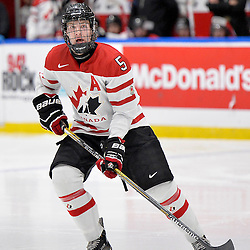 WHITBY, - Dec 14, 2015 -  Game #4 - Russia vs. Canada East at the 2015 World Junior A Challenge at the Iroquois Park Recreation Complex, ON. Adam Smith #5 of Team Canada East during the second period.<br /> (Photo: Shawn Muir / OJHL Images)