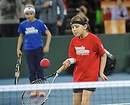 BNP Paribas Davis Cup 2013.BNP Paribas Davis Cup 2013 between Poland and Slovenia at Hala Stulecia in Wroclaw on Ferbruary 2nd , 2013..Tennis 10 presentation.Photo by: Piotr Hawalej