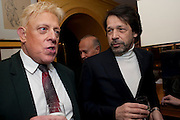 Antony Price; Peter Savile;, BRIONI FRAGRANCE LAUNCH. Annabels. Berkeley Sq. London. 14 October 2009.