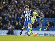 Goal scorer Brighton striker (on loan from Manchester United), James Wilson (21) during the Sky Bet Championship match between Brighton and Hove Albion and Huddersfield Town at the American Express Community Stadium, Brighton and Hove, England on 23 January 2016.