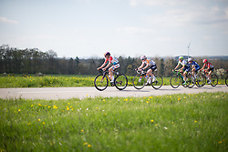 Christine Majerus (LUX) of Boels-Dolmans Cycling Team leads the chasing group on the uncategorised climb of the short lap during the second, 110.1km road race stage of Elsy Jacobs - a stage race in Luxembourg in Garnich on May 1, 2016.