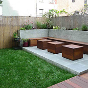 Lexington Ave Small Modern Garden in Brooklyn
