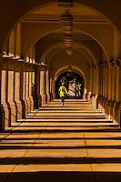 Arcade, El Prado, Balboa Park, San Diego, California USA.