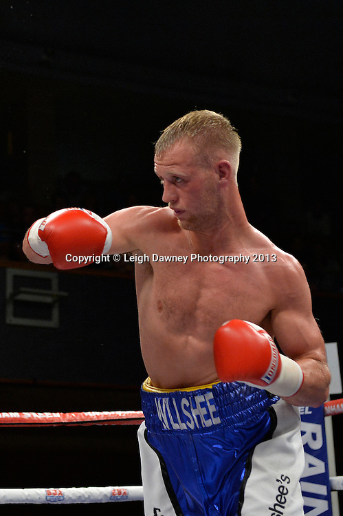 Craig Willshee defeats Kieron Gray in a Super-Middleweight contest at Wolverhampton Civic Hall, Wolverhampton, 1st August 2014. Frank Warren in association with PJ Promotions.  © Credit: Leigh Dawney Photography.