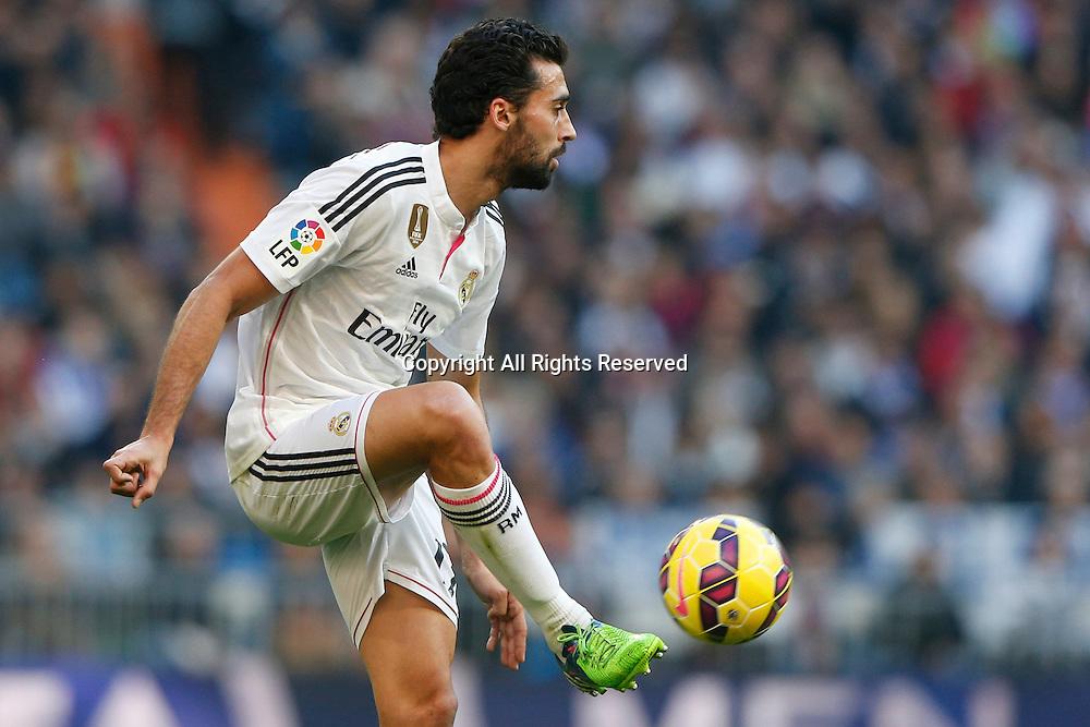 10.01.2014. Madrid, Spain.  17 Alvaro Arbeloa Coca Defender of Real Madrid . La Liga  match played between Real Madrid versus Espanyol at Santiago Bernabeu stadium.