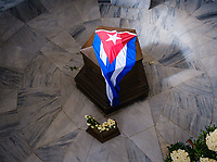 SANTIAGO DE CUBA, CUBA - CIRCA JANUARY 2020: Jose Marti Mausoleum at the Santa Ifigenia Cemetery in Santiago de Cuba. This is the resting place of a few notable Cubans, including Jose Marti and Fidel Castro among others.